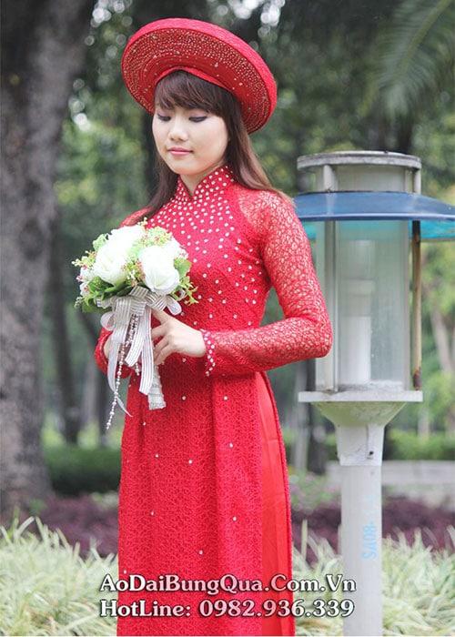 Áo dài cưới dành cho cô dâu mẫu số 6