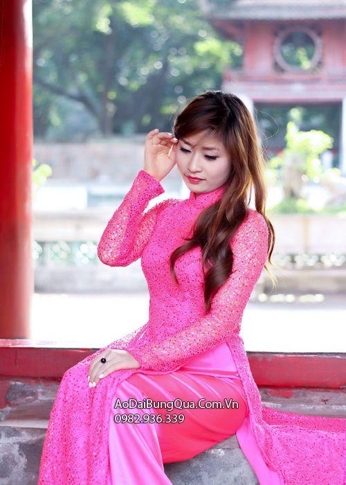 Áo dài cưới dành cho cô dâu mẫu số 12