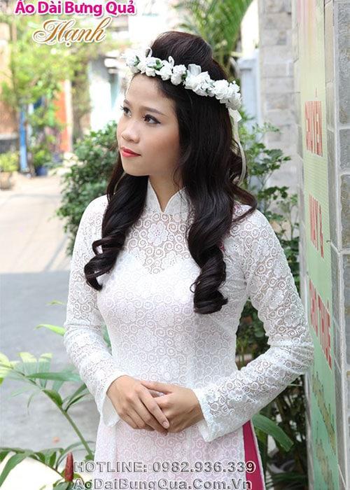 Áo dài cưới dành cho cô dâu mẫu số 17
