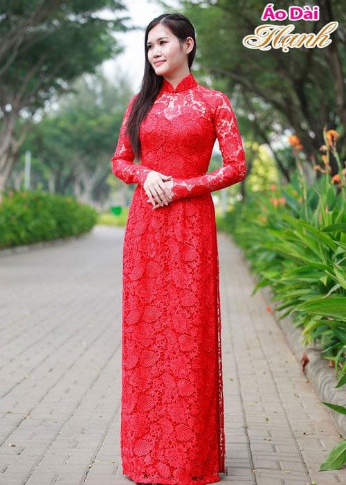 Áo dài cưới dành cho cô dâu mẫu số 20