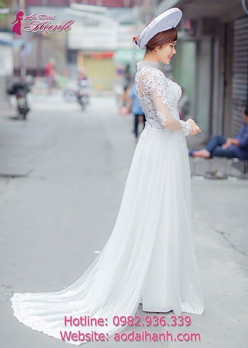 Áo dài cưới dành cho cô dâu mẫu số 35