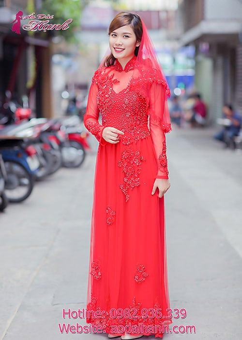 Áo dài cưới dành cho cô dâu mẫu số 39