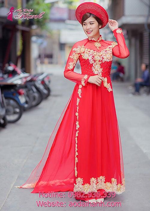Áo dài cưới dành cho cô dâu mẫu số 56
