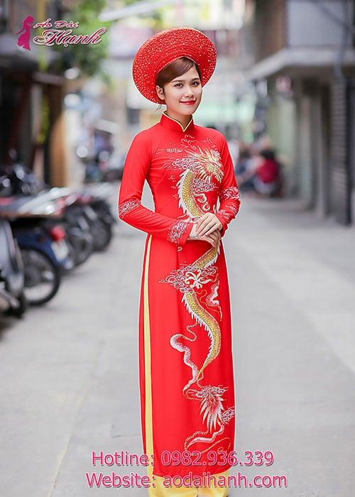 Áo dài cưới dành cho cô dâu mẫu số 60