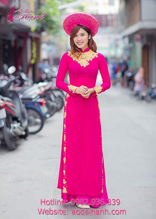 Áo dài cưới dành cho cô dâu mẫu số 63