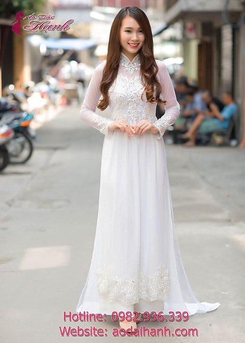 Áo dài cưới dành cho cô dâu mẫu số 69