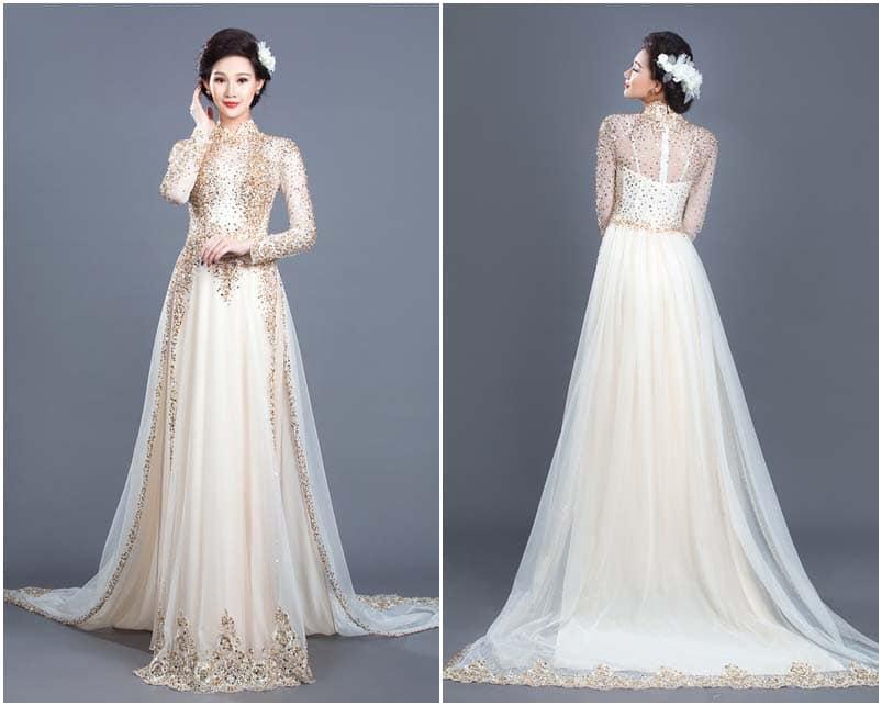 May áo dài cưới ở đâu đẹp và chất nhất tại tp hcm